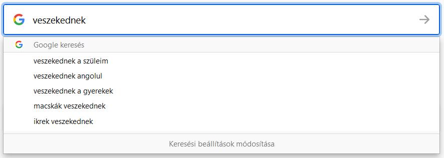 Veszekednek a testvérek - Google Keresési Gyakoriság a veszekedés szóra