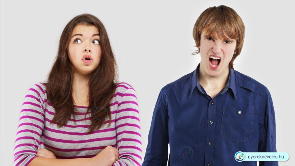 Veszekednek a testvérek, tinédzser- Gyereknevelés